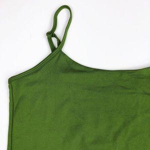 Dressbarn Olive Lined Camisole + Adjustable Straps